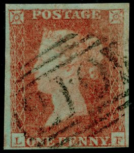 SG9, 1d pale red-brown PLATE 119, FINE USED. Cat £45. LF