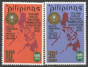 PHILIPPINES 1072-73 MAP A114-5