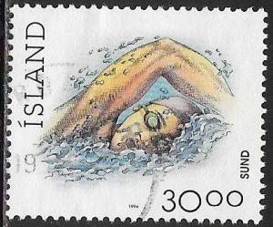Iceland 711A Used - Sports - Swimming