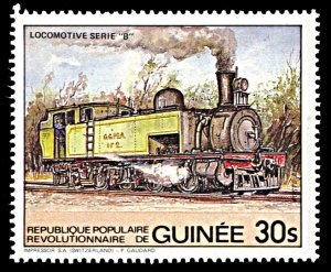 Guinea 889, MNH, Series B Locomotive single from souvenir sheet