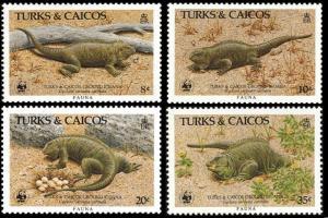 Turks and Caicos WWF Ground Iguana 4v SG#888-891 SC#710-713 MI#777-780