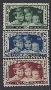 Belgium, Scott #B163-B165; Royal Children, MH