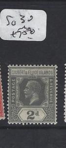 GILBERT AND ELLICE ISLANDS (P1804B) KGV  2D  SG 30  MOG