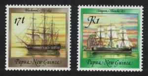 Papua NG Ships 2v SG#547=555