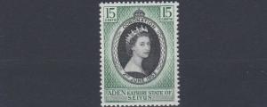ADEN  KATHIRI  1953   S G  28    15C  CORONATION       MNH