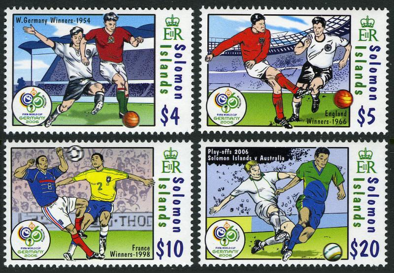 Solomon Islands 1052-1055,MNH.World Cup Soccer Championships, Germany 2006