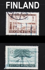 Finland Scott 281-82 complete set F to VF used.