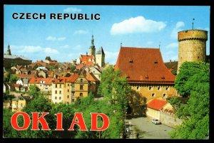 QSL QSO RADIO CARD OK1AD, Laco Polak,Czech Republic, (Q3056)