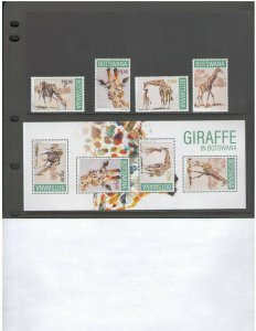 BOTSWANA: NEW ISSUES / **Beautiful GIRAFFES**/ 4 Values &  SS   / MNH.