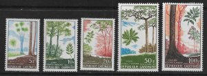 GABON 223-225,C61-C62  MNH   TREES SET 1967
