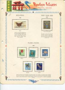 Ryukyu Collection on 10 pages  Mint VF  -   LSP