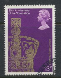 Great Britain  SG 1062 SC# 838 Used / FU with First Day Cancel - Coronation 2...