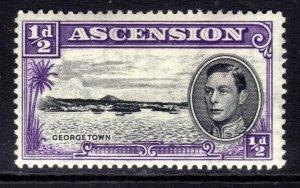 Ascension Island 1944 KGV1 1/2d Georgetown MM SG 38b 13 perfs ( R623 )