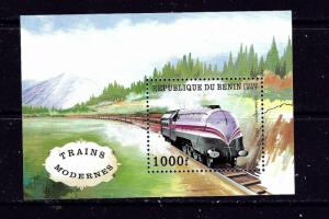 Benin PR 965 MNH 1993 Train souvenir sheet