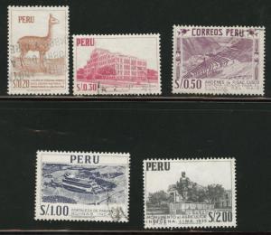 Peru Scott 474-478 1960 used Holland print set