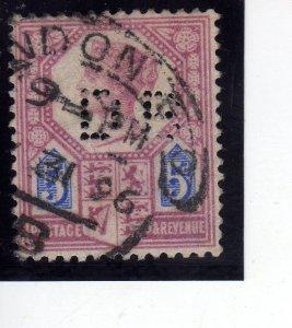 Queen Victoria  1887 5p violet/blue sg207 used