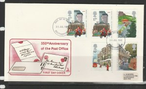 GB FDC 1975 Post Office with Addit 17p Boo, Southampton FDI, Small label address