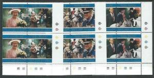 FALKLAND IS 1997 Golden Wedding set plate blocks MNH......................61711