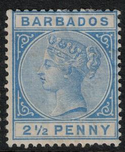 Barbados 1882-1885 SC 62 Mint SCV $145.00