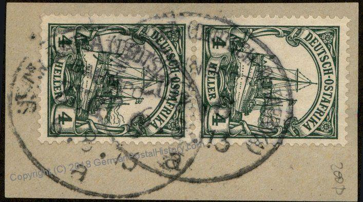 Germany 1913 East Africa Ostafrika DOA Usambarabahn Zug 6a Train Bahnpost  85375
