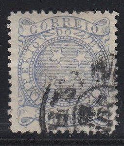 Brazil 1887 300r Grey Blue Used. Scott 94