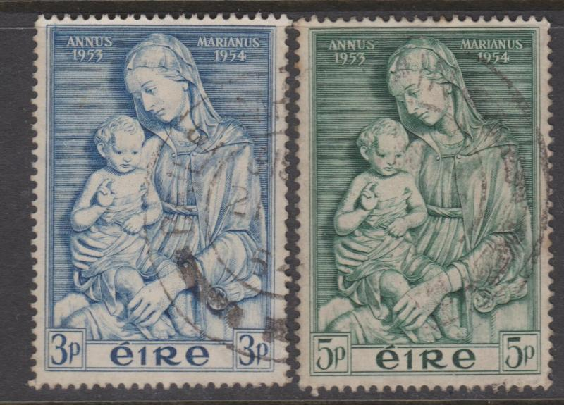 Ireland 1954 Madonna Set Sc#151-152 VF Used