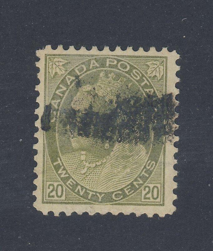 Canada Victoria Numeral Stamp #84-20c Used F/VF Guide Value = $120.00