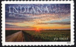 SC#5091 (47¢) Indiana Statehood (2016) SA