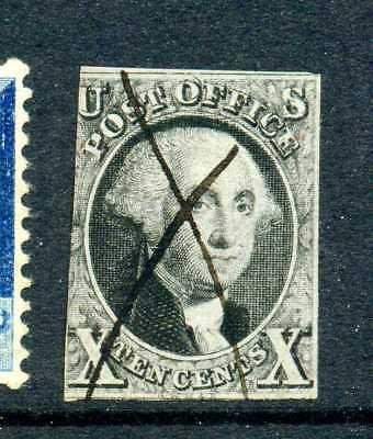 Scott #2 Washington TYPE B DOUBLE TRANSFER Used Imperf Stamp  (Stock # 2-28)