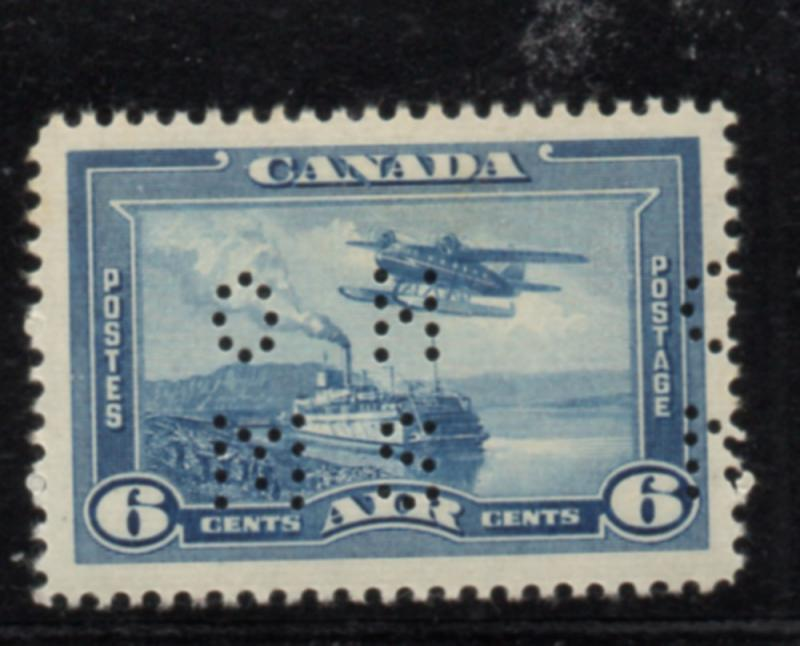 Canada USC#OC6 1938 6c airmail perforated OHMS stamp mint