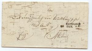 Bavaria, 1833 Postal History Folded Letter BAMBERG, full message, superb