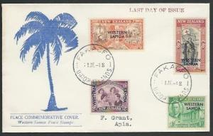 TOKELAU IS 1948 cover - last day of Samoa PO - used from FAKAOFO...........11456