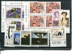 Croatia  Europa  lot Mint VF NH -  Lakeshore Philatelics