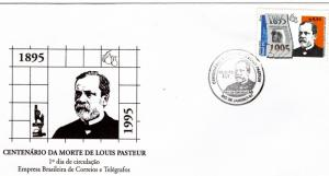 Brazil 1995 Sc#2525 LOUIS PASTEUR CENTENARY Set (1) Official F.D.C.