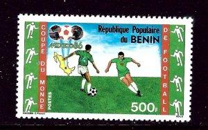 Benin 619 MNH 1986 Soccer    (ap4341)