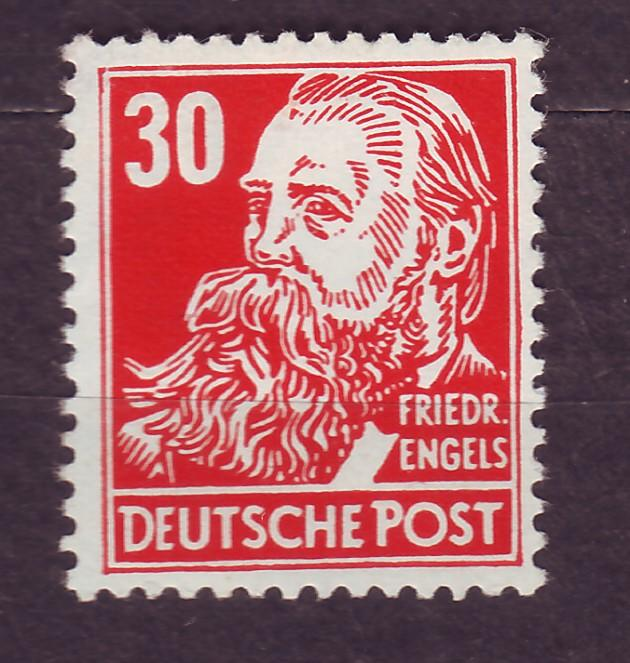 J14669 JLstamps 1953 germany DDR mnh #130 engels wmk 297