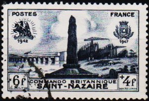France. 1947 6f+4f S.G.1016 Fine Used