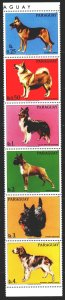 Paraguay. 1986. 4012-17 from the series. Dogs. MNH.