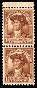 US STAMP #706 1932 1-1/2¢ Washington Washington Bicentennian MNH/OG