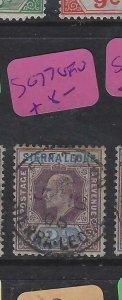 SIERRA LEONE  (P2703B)  KE  2 1/2D  SG 77  SON CDS   VFU