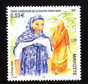 Mayotte MNH Scott #212 53c Traditional Mahoraise Women's Clothing
