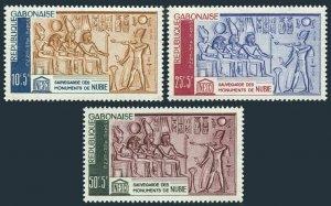Gabon CB1-CB3,hinged.Mi 193-195. UNESCO campaign 1964:Save Monuments in Nubia.