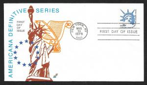 UNITED STATES FDC 16¢ Statue of Liberty 1978 Spectrum