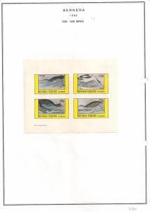 SCOTLAND - BERNERA - 1982 - Birds (28) - 4v Imperf Sheet - MLH