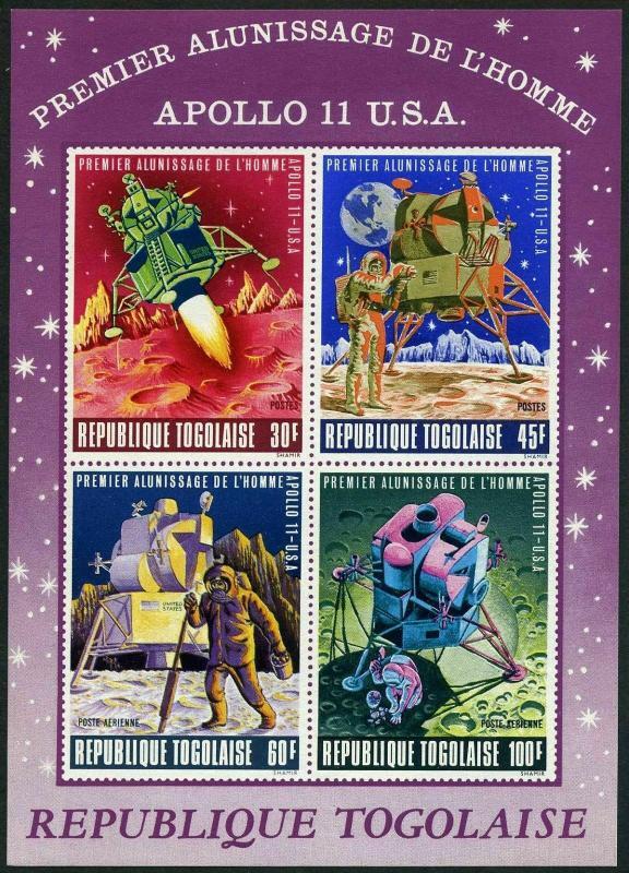 Togo C108a,C108aa,MNH.Michel 709-712 Bl.40-41 Apollo 11.Astronaut,Moon surface.