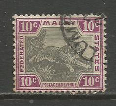 Malaya Federation  #31c.  Used  (1904)  c.v. $0.75