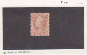 1879 US Scott # O117 War Department Official Rose Stamp Used