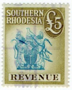 (I.B) Southern Rhodesia Revenue : Duty Stamp £5