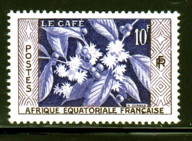 FRENCH EQUATORIAL AFRICA #193  1956  COFFEE    MINT  VF NH  O.G