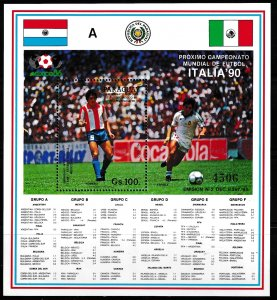 Paraguay,  SW 4090,  MNH,  1987,  Football World Cup - Mexico,  AA00206